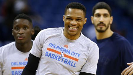 Pemain Oklahoma City Thunder, Russell Westbrook. - INDOSPORT