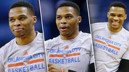 Pemain Oklahoma City Thunder, Russell Westbrook. - INDOSPORT