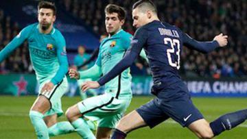 PSG untuk sementara unggul atas Barcelona