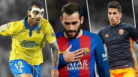 Kiri-kanan: Michel Macedo, Aleix Vidal dan Joao Cancelo. - INDOSPORT