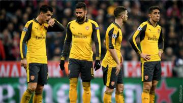 Arsenal saat dikalahkan Bayern Munchen.