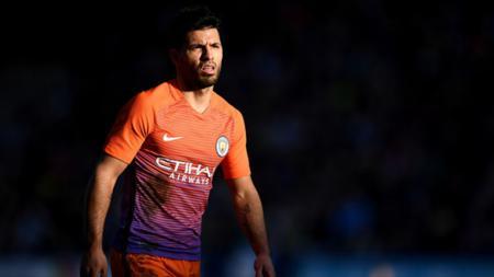 Sergio Aguero gagal membawa Man City menang atas tim dari kasta kedua Inggris di Piala FA. - INDOSPORT