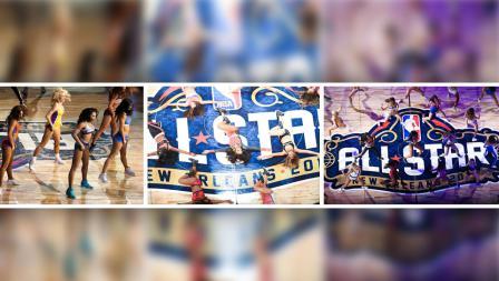 Sexy Dancer yang dikenal dengan nama cheerleader ramaikan pembukaan pertandingan NBA All Star 2017.