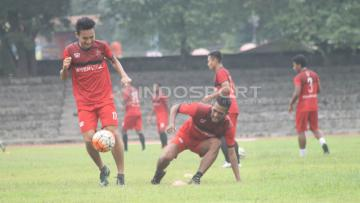 Suasana latihan Persijap Jepara jelang bergulirnya Liga 2 Indonesia.