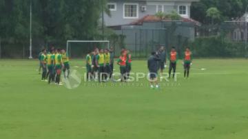 Latihan Tim Nasional (TIMNAS) Indonesia.