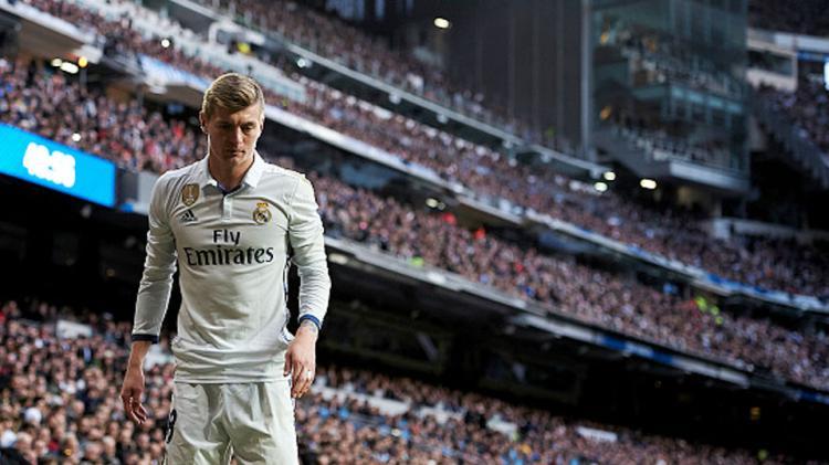 Toni Kroos pada laga saat melawan Malaga. Copyright: fotopress/Getty Images