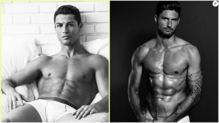 Cristiano Ronaldo dan Olivier Giroud menjadi pesepakbola yang diinginkan fans untuk tidur bersama. - INDOSPORT