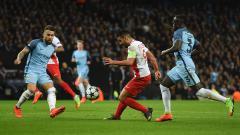 Indosport - Falcao dalam laga kontra Manchester City, Rabu (22/02/17).