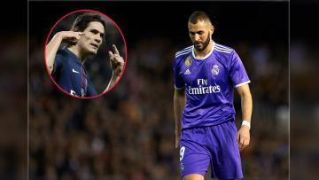 Striker Real Madrid, Karim Benzema, kabarnya ingin dijadikan opsi tukar dengan ujung tombak PSG, Edinson Cavani.
