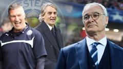Indosport - Roberto Mancini dan Nigel Pearson calon pengganti Claudio Ranieri sebagai pelatih Leicester City.