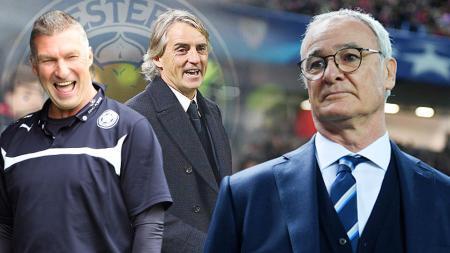 Roberto Mancini dan Nigel Pearson calon pengganti Claudio Ranieri sebagai pelatih Leicester City. - INDOSPORT