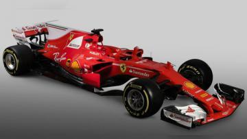 Mobil baru yang akan dipakai tim Scuderia Ferrari.