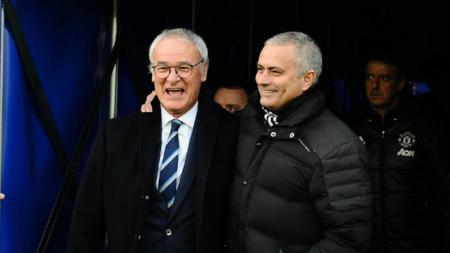 Claudio Ranieri dan Jose Mourinho. - INDOSPORT