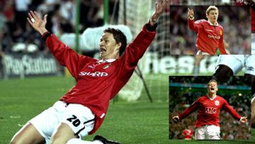Ole Gunnar Solskjaer saat masih berseragam Manchester United.