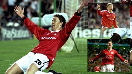 Ole Gunnar Solskjaer saat masih berseragam Manchester United. - INDOSPORT