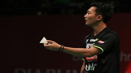 Pebulutangkis Ihsan Maulana Mustofa kembali comeback di kompetisi Spain Masters 2021, media China menyorotinya. - INDOSPORT