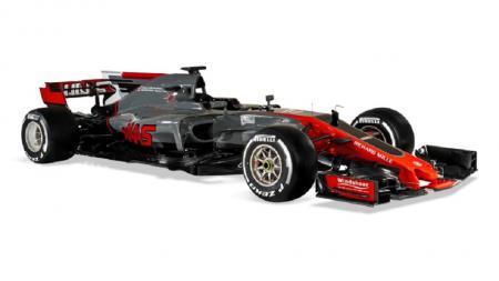 Mobil VF17 yang akan dipakai Tim Haas F1 di musim balap 2017. - INDOSPORT