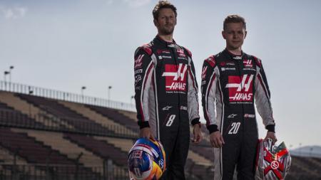 Kevin Magnussen dan Romain Grosjean. - INDOSPORT