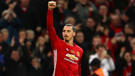 Penyerang Man United, Zlatan Ibrahimovic. - INDOSPORT