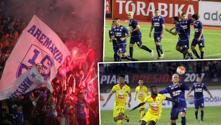 Arema FC berhasil kalahkan Sriwijaya FC dengan skor 1-0.