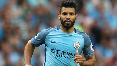 Sergio Aguero saat membela Manchester City. - INDOSPORT