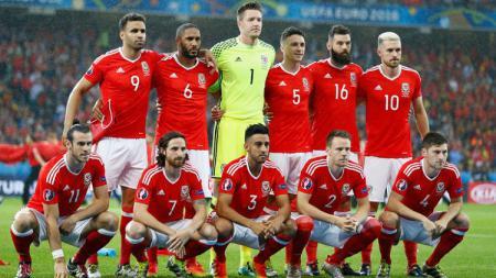 Timnas Wales di gelaran Euro 2016. - INDOSPORT