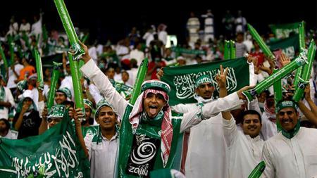 Suporter Timnas Arab Saudi - INDOSPORT