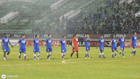 Aksi selebrasi pemain Persib Bandung. - INDOSPORT