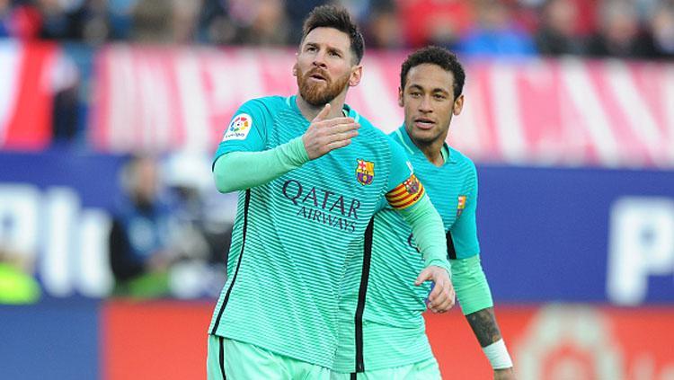 Lionel Messi dan Neymar Copyright: Denis Doyle/Getty Images
