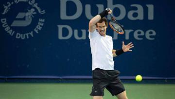 Andy Murray di babak pertama sektor ganda Dubai Terbuka 2017.