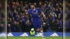 Indosport - Penyerang Chelsea, Diego Costa sedang melakukan selebrasi.