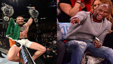 Conor McGregor berencana melawan Floyd Mayweather. - INDOSPORT