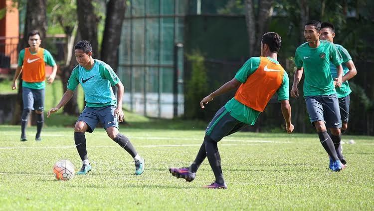Evan Dimas mulai berlatih bersama para pemain seleksi lain.