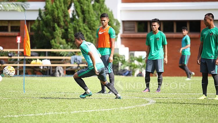Latihan Timnas U-22.