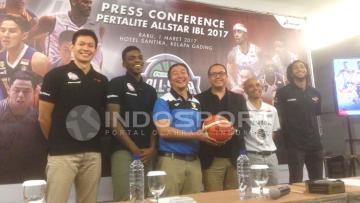 Konferensi Pers Pertalite All Star IBL 2017.