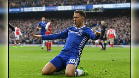 Gelandang serang Chelsea, Eden Hazard - INDOSPORT