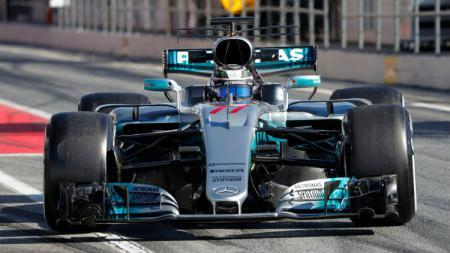 Pembalap Mercedes, Valtteri Bottas menjadi yang tercepat di hari terakhir tes pramusim Formula 1 (F1) 2020 yang berlangsung di Sirkuit Catalunya, Barcelon - INDOSPORT