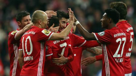 Bayern Munchen selebrasi. - INDOSPORT
