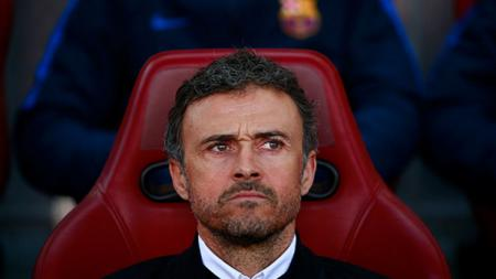 Luis Enrique saat mendampingi Barcelona beberapa waktu lalu. - INDOSPORT