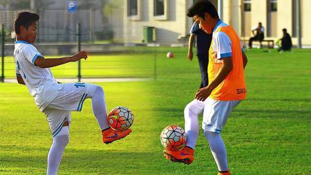 Penyerang asal Indonesia yang membela klub Qatar, Al -Gharafa, Andri Syahputra. - INDOSPORT