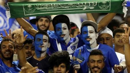 Fans Tim Nasional (Timnas) Arab Saudi. - INDOSPORT