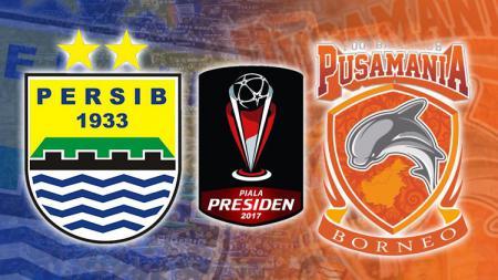 Logo Persib Bandung vs Pusamania Borneo FC. - INDOSPORT