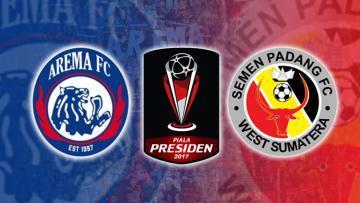 Logo Arema FC vs Semen Padang.