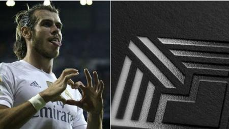 Gareth Bale dan logo Elevens. - INDOSPORT