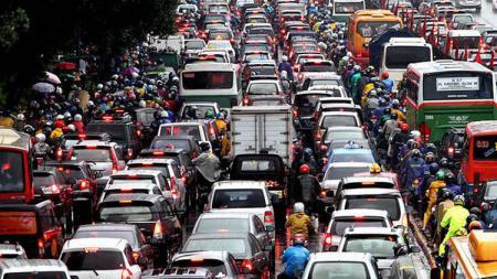 Ilustrasi soal kemacetan di Indonesia. - INDOSPORT