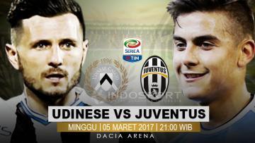 Susunan pemain Udinese vs Juventus.