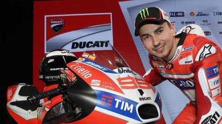 Penampakan motor Ducati yang akan digunakan Jorge Lorenzo pada MotoGP tahun ini. - INDOSPORT