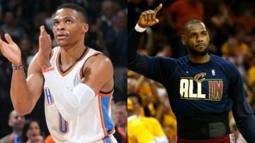 Russell Westbrook dan LeBron James