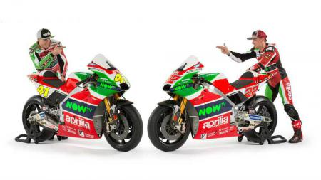 Aprilia Racing meluncurkan motor terbaru mereka untuk musim 2017. - INDOSPORT