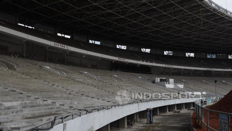 Tempat duduk Stadion GBK nantinya akan memiliki desain single seat.